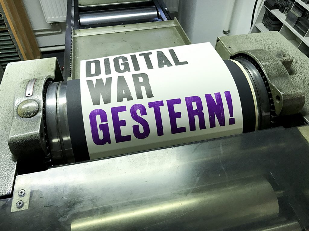Digital war gestern – Zu Gast in der Offizin Haag-Drugulin